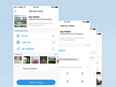Create Listing startup app mobile ios ux ui real estate
