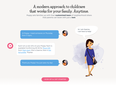 Simply Booking organic childcare process text
