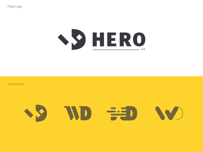WD Hero typogaphy icon guideline illustration logo identity logotype branding