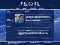 Prasse Construction - Website