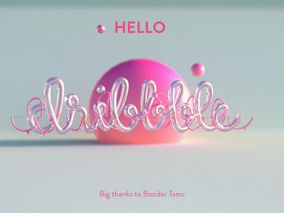 Hello Dribble hello dribbble danish chiragh adobe photoshop 3dsmax first post