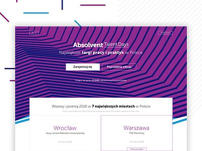 Talent Days - hero web image responsive landing line brand fear hero top layout web kohutpiotr days talent