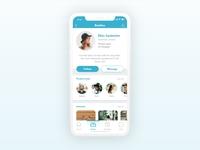 Profile page of a company's internal app