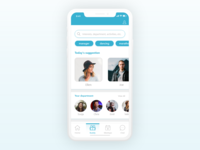 Buddies page of a company's internal app