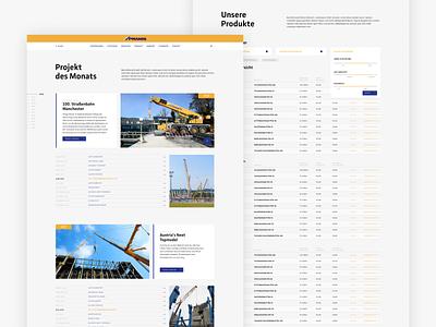 Concept Prangl prangl austria construction company web design website