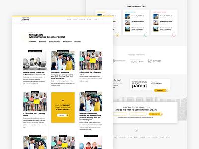 International School Parent education blog web design website