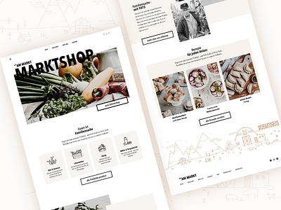 am Markt | Landingpage & Shop landing page icons illustration shop farmers market webdesign