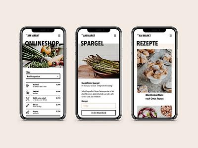 am Markt | Shop & Mobile blog austria farmers market shop uidesign mobile responsive webdesign minimal