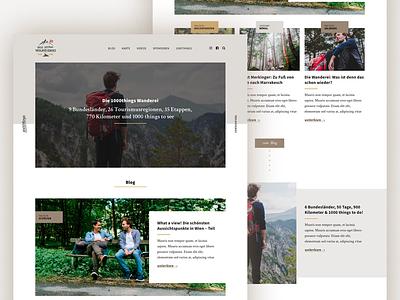 Die Wanderei - 1000 Things To Do in Austria blog design travel outdoors 1000 things to do in austria austria magazine blog web design