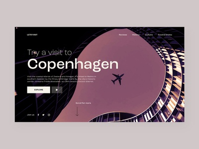 Travel | Copenhagen Landing page