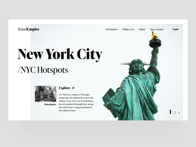 Travel - New York City website design travel agency simple black and white minimal webdesign web travel new york city