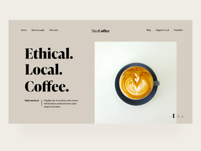 Local Coffee - Concept typography minimal uiux web design web local business coffeeshop coffee