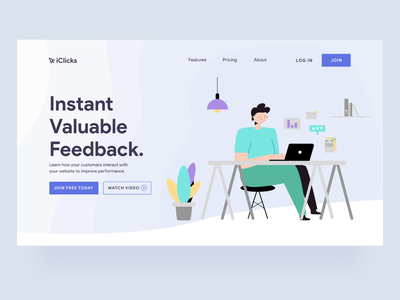 Customer Feedback tool - LandingPage minimal ui user research customer feedback landing page