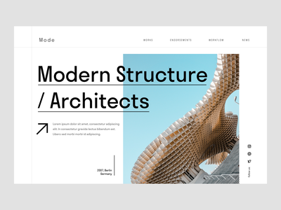 Modern Architecture Firm abstract ux typography design flat minimal ui modern architecture architect