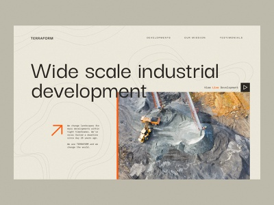 Industrial Development Company - Concept cards product design ux typography design flat minimal ui landscape architecture developments development industrial