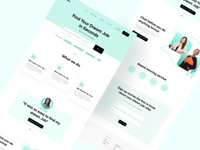 Recruitment Homepage web webdesign cards product design ux typography design flat minimal ui