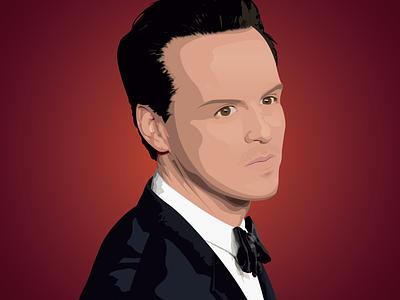 Andrew Scott | Vector portrait digitalart actor art illustrator portrait dribbble vector illustration