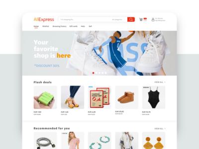 Aliexpress website (restyle)