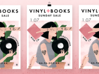 Vinyl+books poster