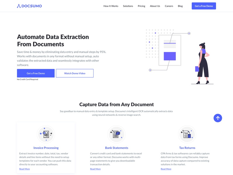 Docsumo web design design adobe xd