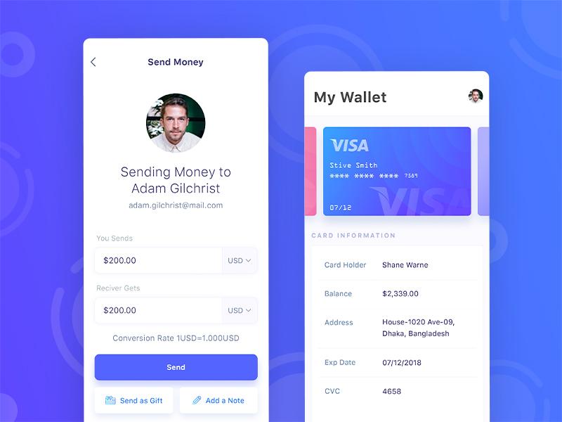App ui ux design ios financial mobile app design