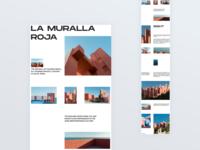 La Muralla Roja helvetica minimalism brutalism house architecture webdesign website uidesign landing design ui landingpage design dailyui