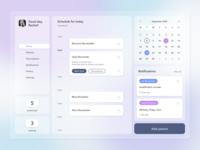 Medical App schedule calendar medical user profile app design app design ui dailyui