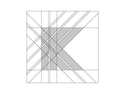 'K' Logo Gridlines