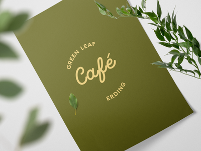 Green Leaf Café Erding - Logo Design
