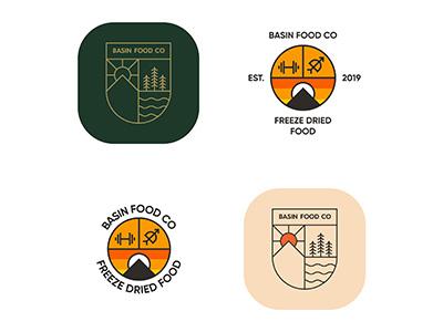 Basin Food Co Logo Concepts