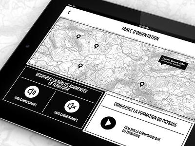 Application de cartographie cartography ipad app map
