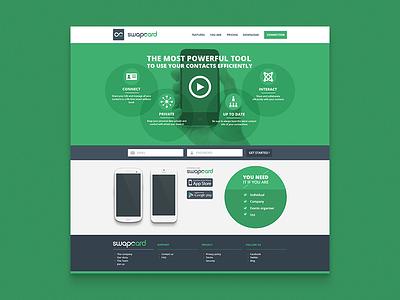 Concept design Swapcard webdesign