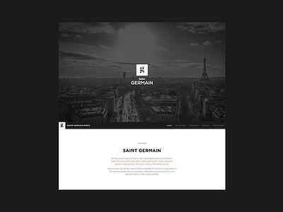 Saint Germain Paris paris website ui