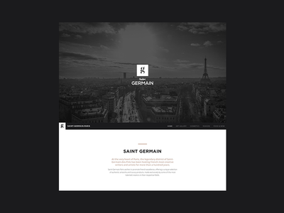 Saint Germain Paris paris website ui