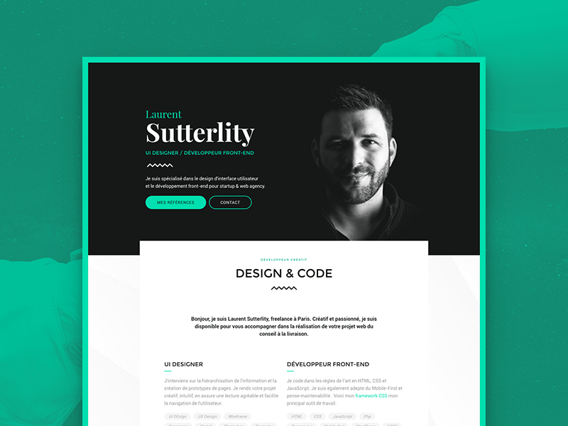 Sutterlity Portfolio ui design portfolio