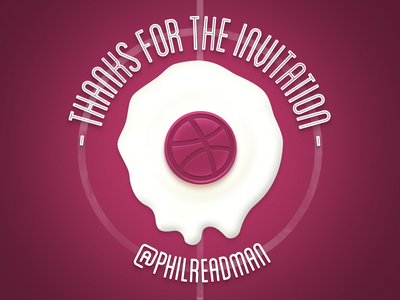 Thanks for the invitation dribbble photoshop