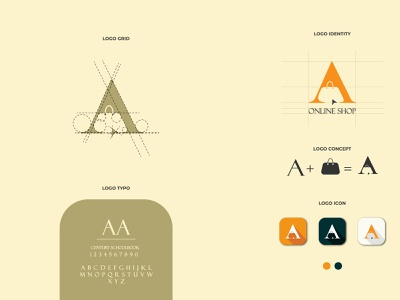 a online logo online marketing online online shopping online store online shop design brand identity designer corporate typography icon brand and identity dribbble best shot logo corporate branding branding
