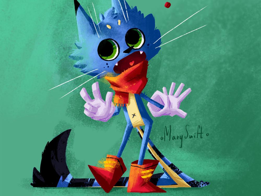 Cat cartoon cat cute character emotion anime desing character design character illustration