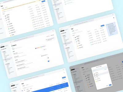 🏷 A new way to manage tags checkboxes selected state tabs navigation banners info box buttons dialog modal patterns table ux ui settings app front tags