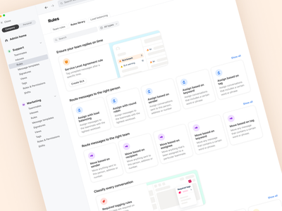 Rules Library 📚 sections icons browse search illustrations cards settings library rules