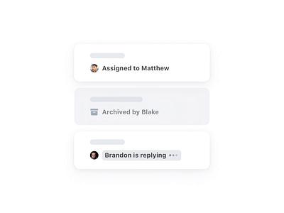 Conversations activity 💬 activity transparence visibility collaboration teamwork teammates conversations cells email illustration ui app animation