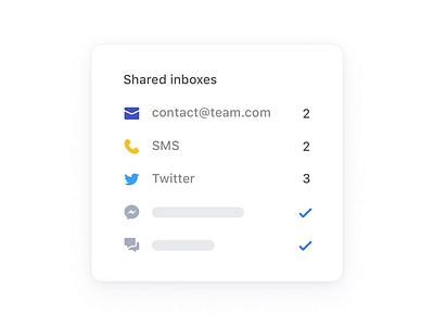 Inbox Zero 📭 shared inboxes inbox zero inboxes channels counters email illustration ui app animation website