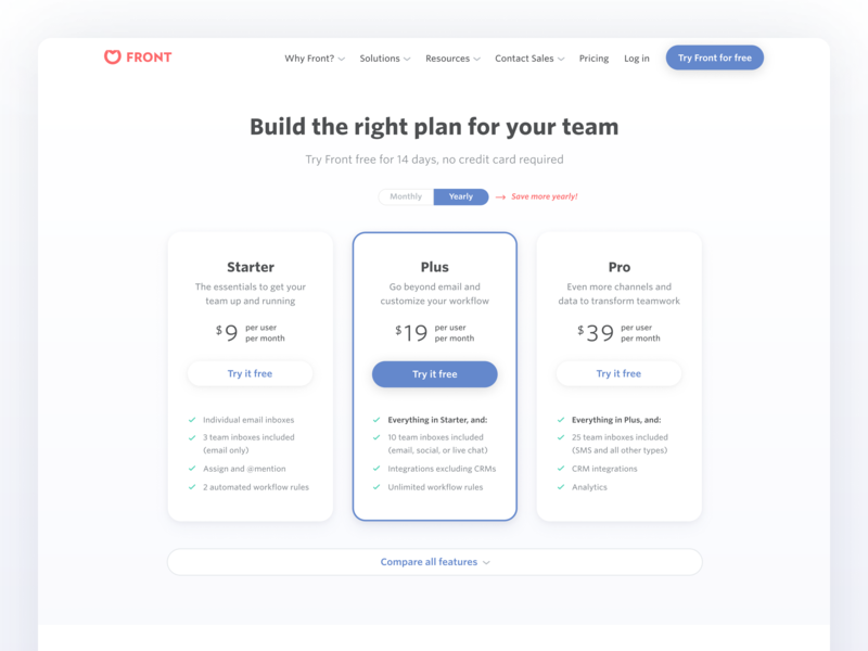Pricing page refresh 💵