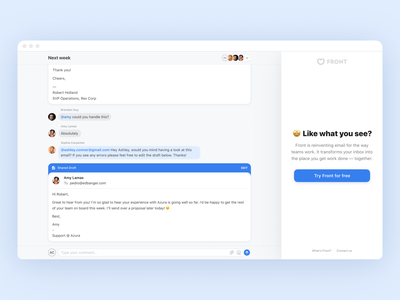 Be our guest! 👤 front view invite draft collaboration comments email conversation guest app