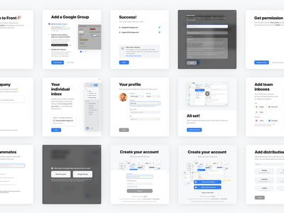 Onboarding flow 👣 buttons highlights overlay flow progress steps process fields signup email front onboarding
