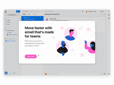 Guided Demo experience 🤖 scenario bot learning app email flow highlight onboarding learning educational bubbles demo guided tour