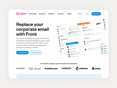 We have a new website 🙌 email front homepage hero website