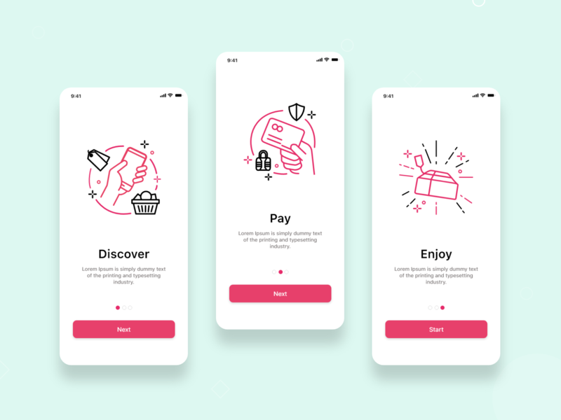 Noqaty- Onboarding screen offer pay onboarding app interaction design ux design adobexd mobile application app design ui design
