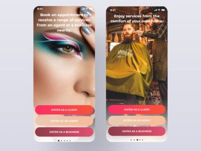 Tonty App - Onboarding adobexd mobile application design ux design makeup app design app interaction ui design