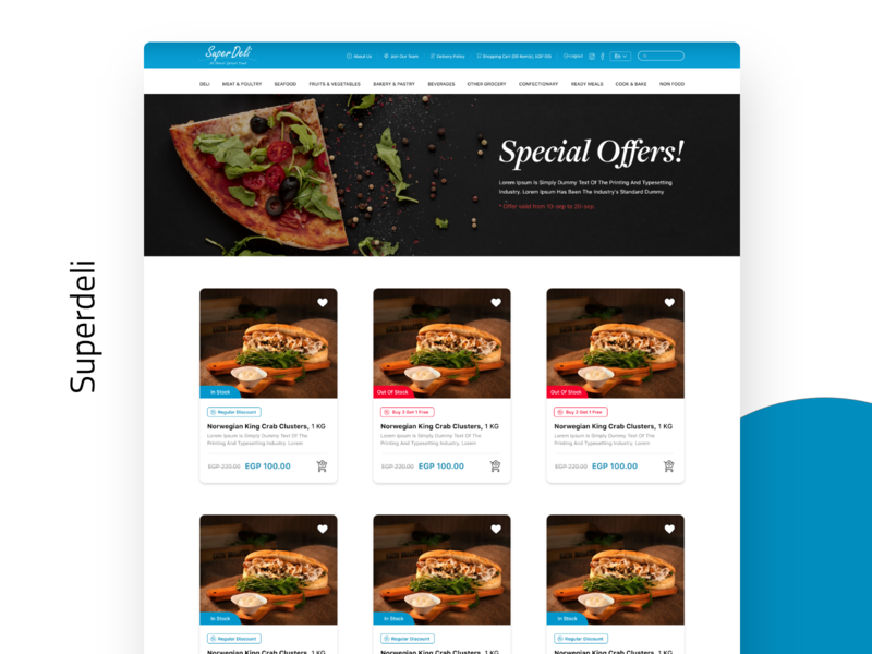 SuperDeli design website concept product website design special offer offers website